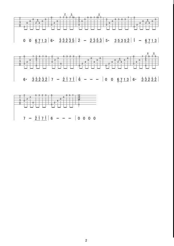 夜的钢琴曲5_吉他谱_用户传谱