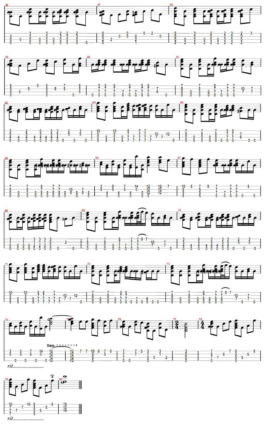 彩虹 ukulele指弹谱