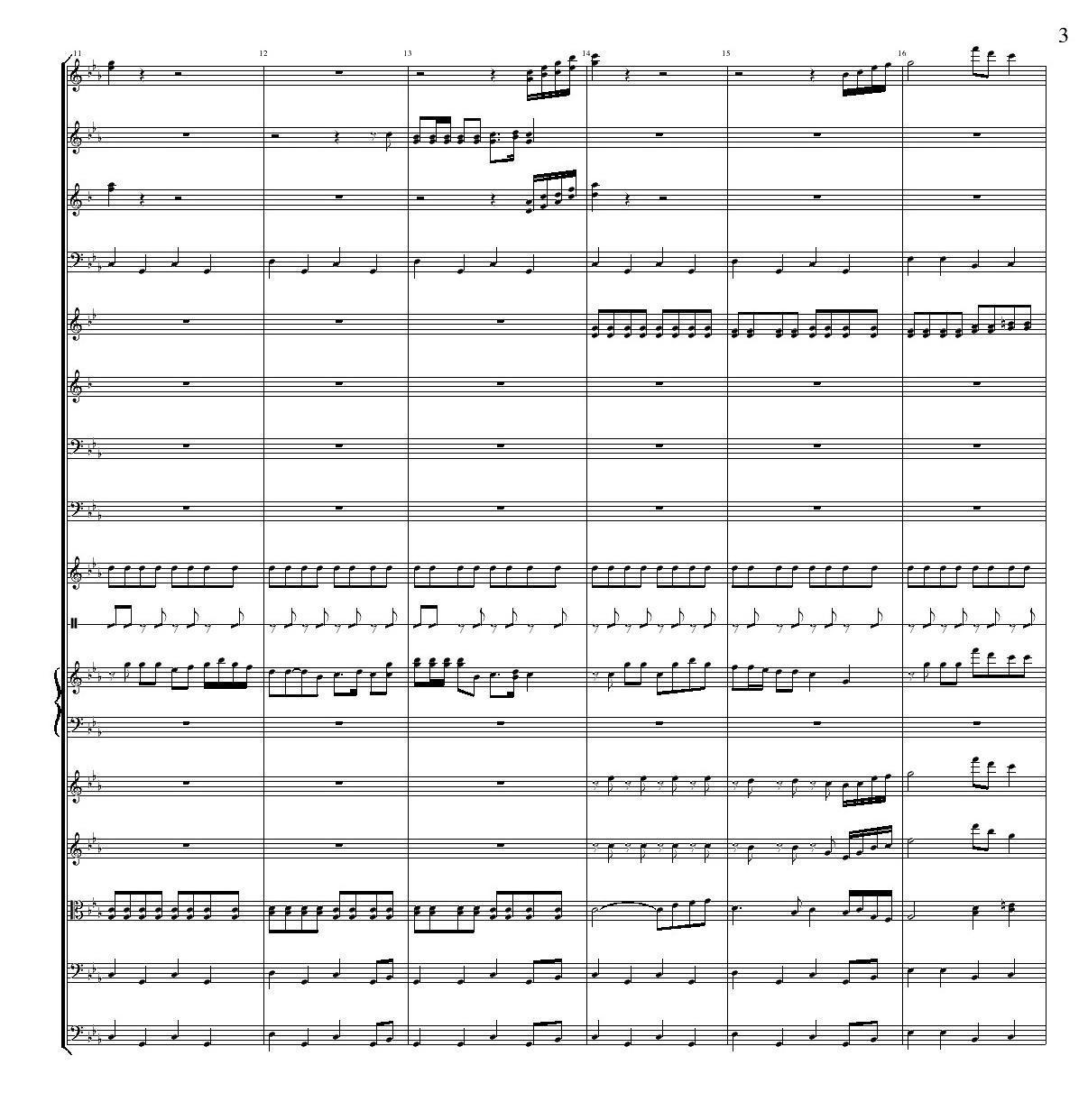 老司机 管弦乐队总谱