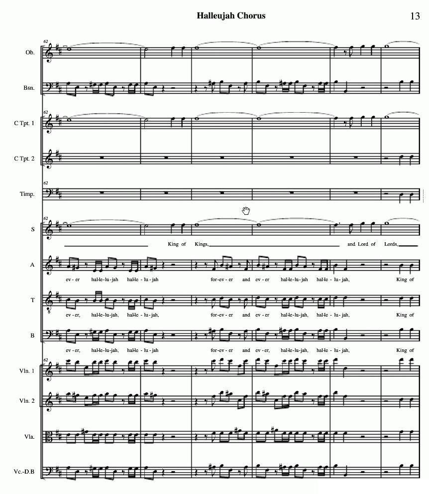 哈利路亚总谱11-19(halleujah chorus)