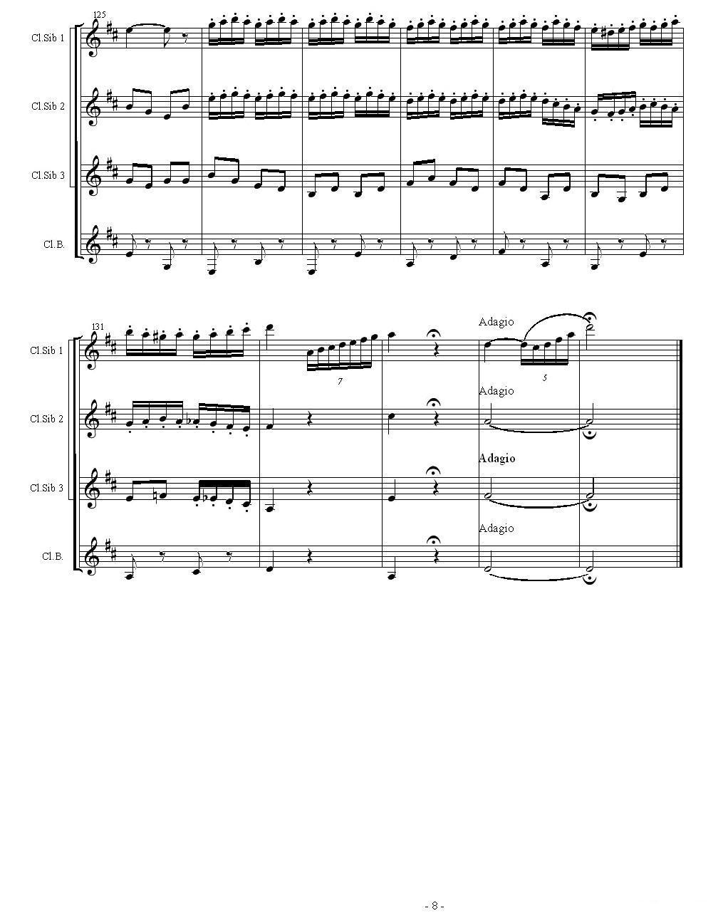 查尔达斯舞曲(四重奏)