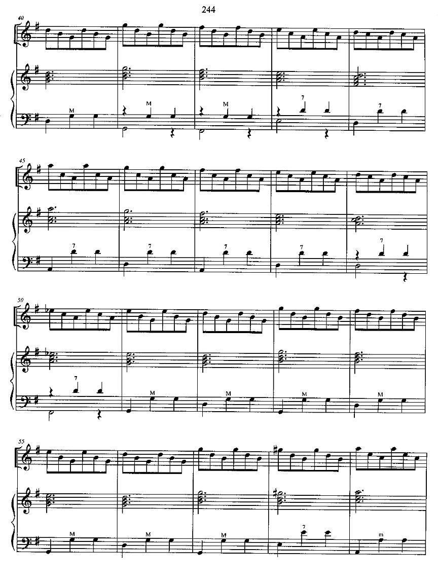 光和影 手风琴谱