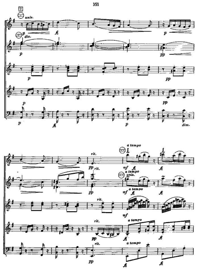 斯拉夫舞曲 手风琴谱