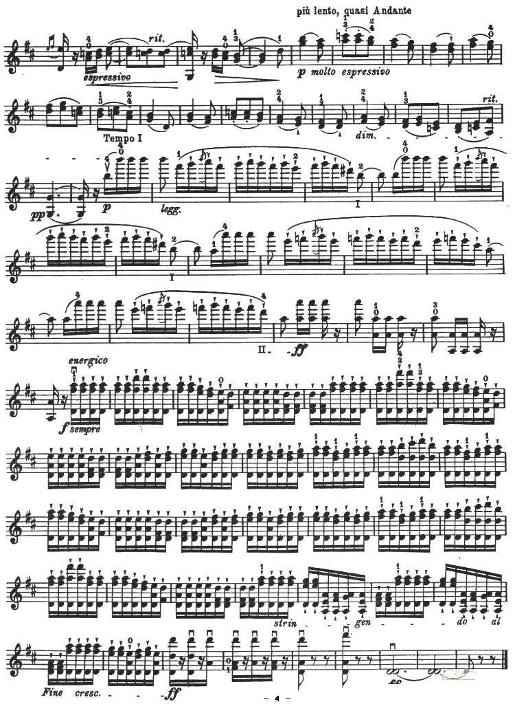 《霍塔·纳瓦拉舞曲》 小提琴谱