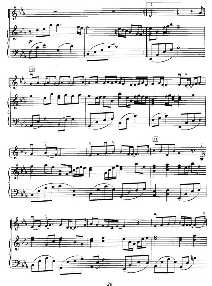 希望 小提琴谱