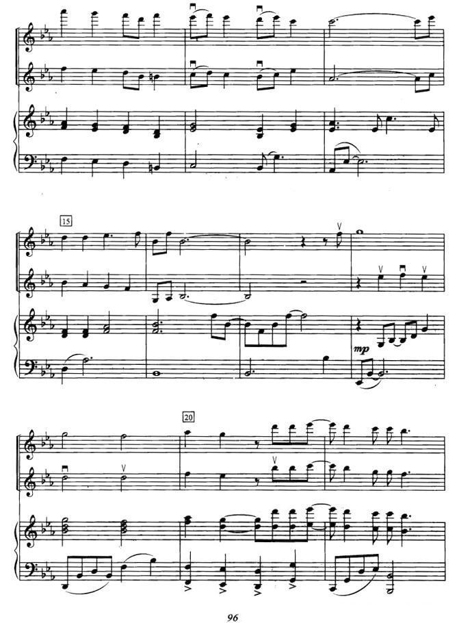 你 选自 冬日恋歌 小提琴二重奏 钢琴伴奏 -为了你 小提琴谱