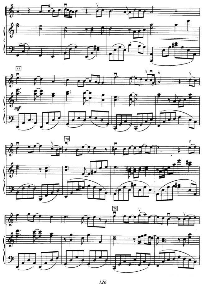 吧 选自 悲伤恋歌 小提琴 钢琴伴奏 -分手吧 小提琴谱