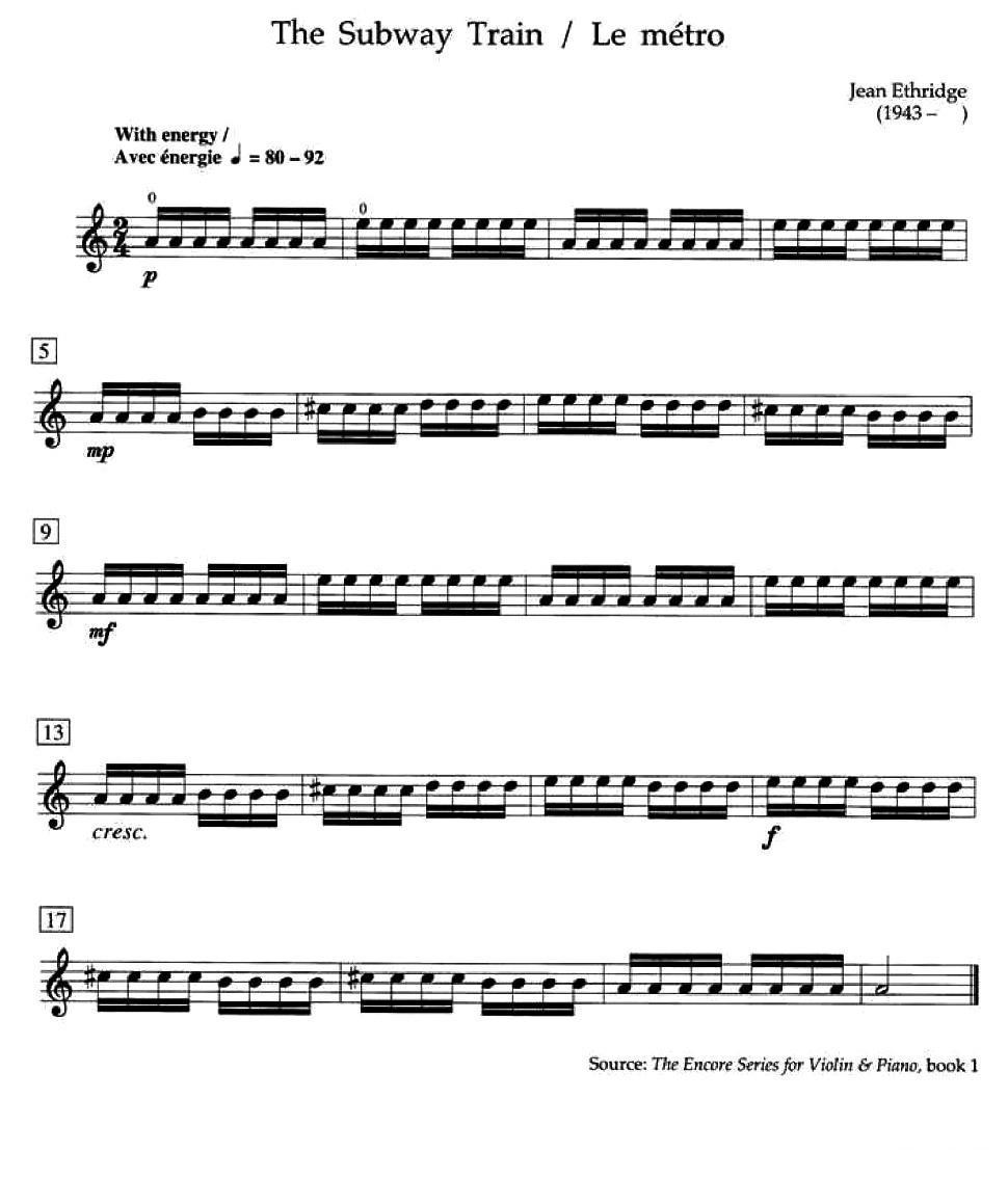 小提琴考级视奏乐谱