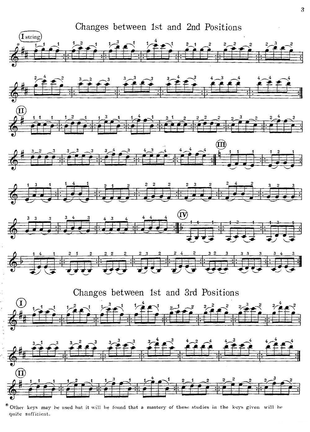 小提琴换把练习曲 小提琴谱