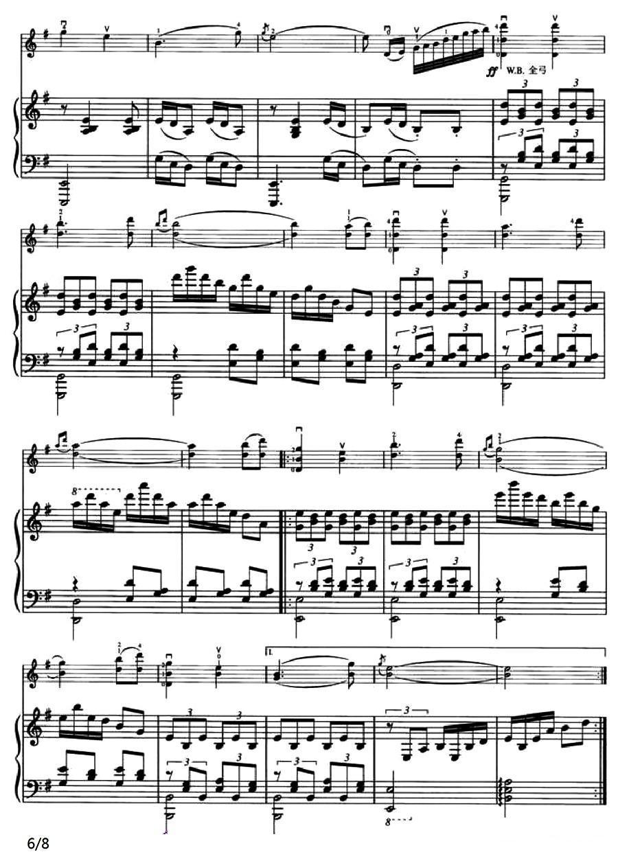 快乐的啰嗦 小提琴谱
