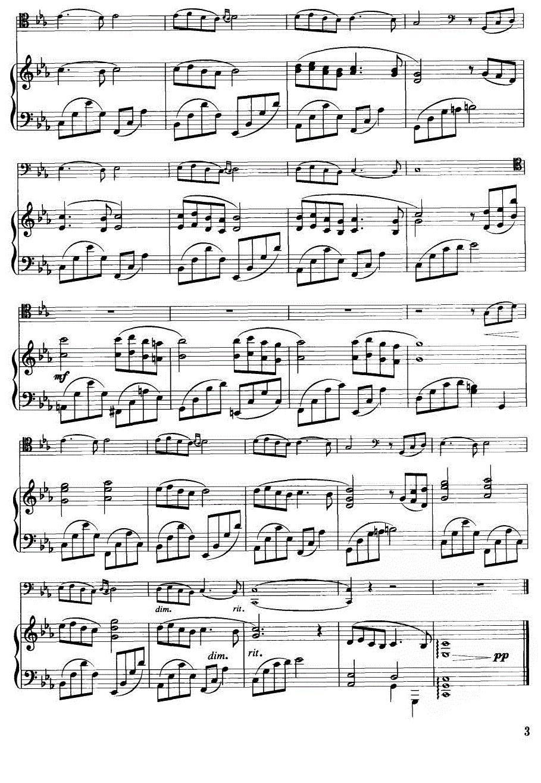 神秘园之歌 小提琴谱