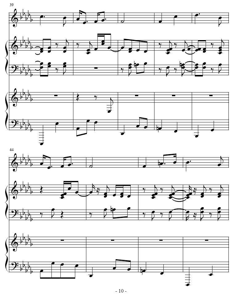 吉普赛之歌 小号 双钢琴 -吉普赛之歌