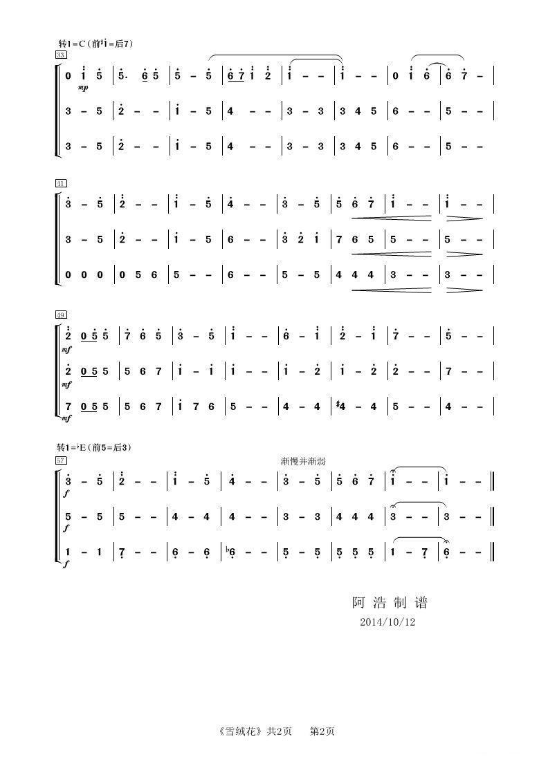 雪绒花(管乐合奏)